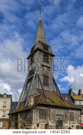 Bell tower of the Church of Saint Catherine Honfleur France