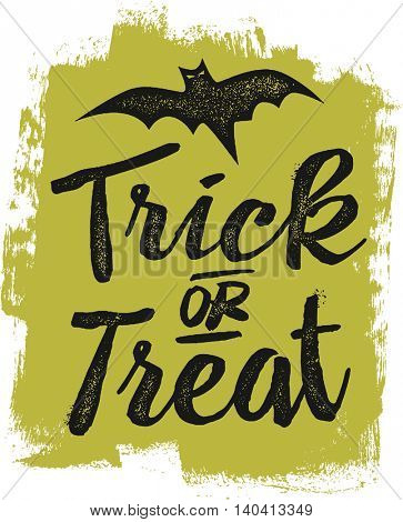 Vintage Trick or Treat Halloween Design