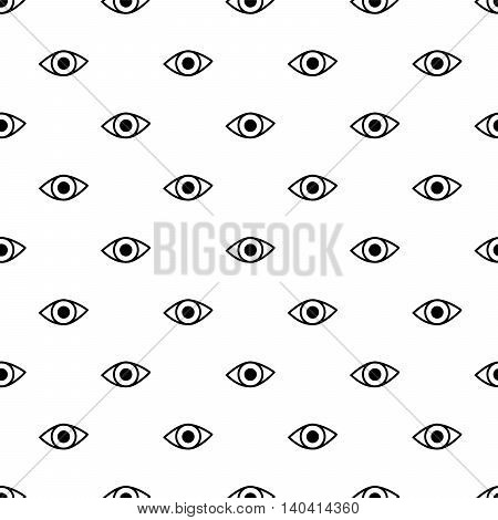 Vector seamless pattern eyes. For design concept pattern.