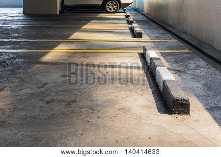 Empty Parking Lot In Car Parking Floor
