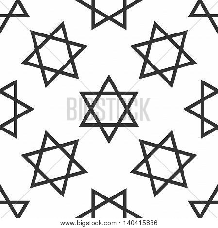 Star of David icon pattern on white background. Adobe illustrator