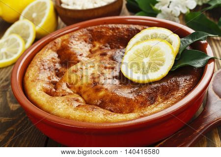 Casserole With Curd And Lemon
