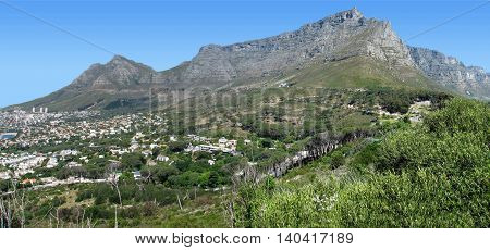 Table Mountain, Cape Town South Africa 1596 s