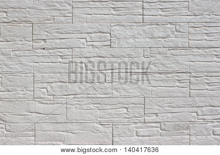 Background of white stone relief for creativity