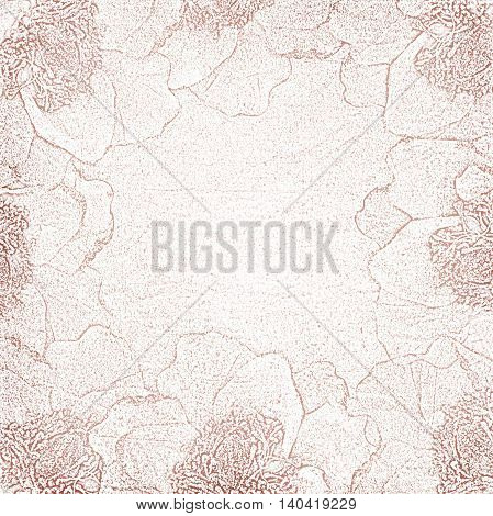 Pink Background for congratulation card with flowers