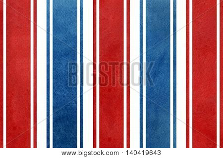 Watercolor Dark Blue And Red Striped Background.