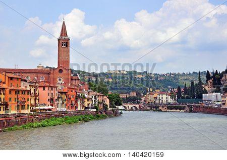 Panorama of Verona old town, Veneto, Italy