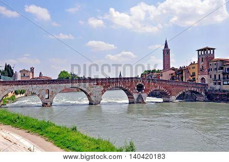 Old town of Verona, Veneto province, Italy