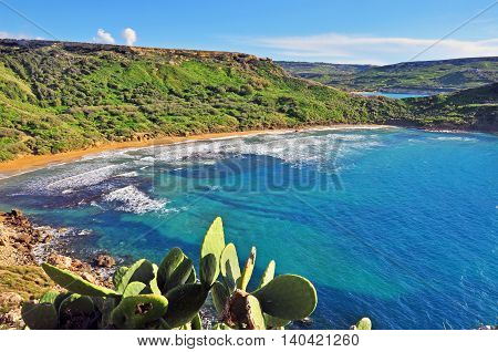 Amazing land scape on the Maltese Islands