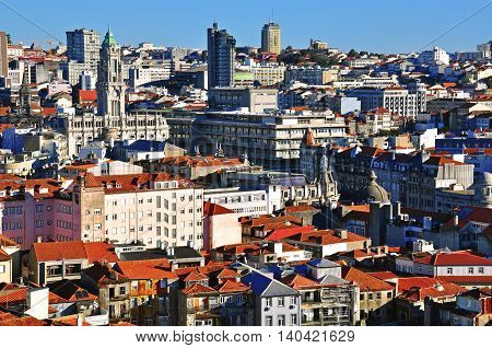 View of Oporto city centre, city of Portugal