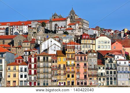 PORTO PORTUGAL - NOVEMBER 26: Beautiful View of Porto historical centre on November 26 2012. Porto is the second-largest city in Portugal.