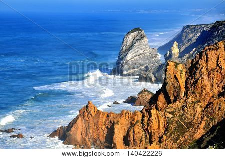 Cabo da Roca cliffs in central Portugal