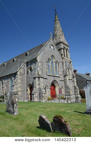 An external view of the church in Thornhill