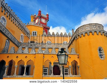 Pena Palace in Sintra National Park, Portugal