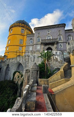 Tower of Pena palace in Sintra, Portugal