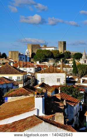 Fort of Obidos old town in Portugal