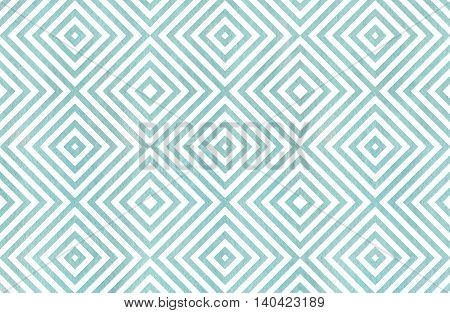 Geometrical Pattern In Blue Color.