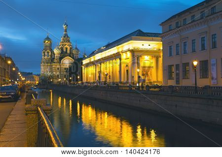 Cathedral of the Savior on Blood of the canal. Russia, St Petersburg.