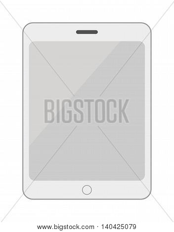Tablet computer smartphone isolated screen isolated digital technology vector smartphone icon. Technology tablet smartphone computer and business tablet computer smartphone communication.