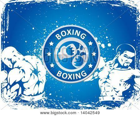 boxing sign on grunge background