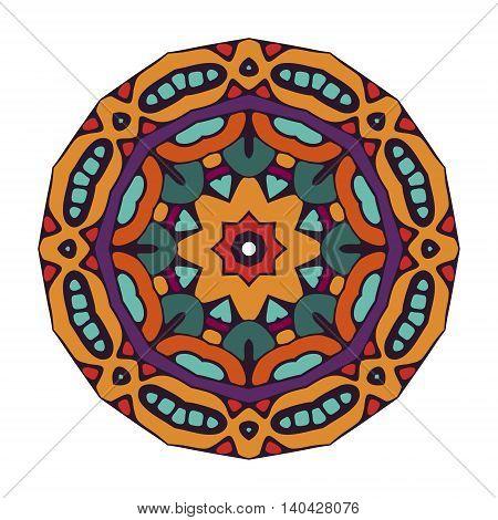 geometric orange colorful ornamental mandala design abstract pattern