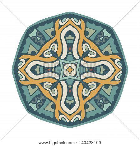 geometric green colorful ornamental mandala design abstract pattern
