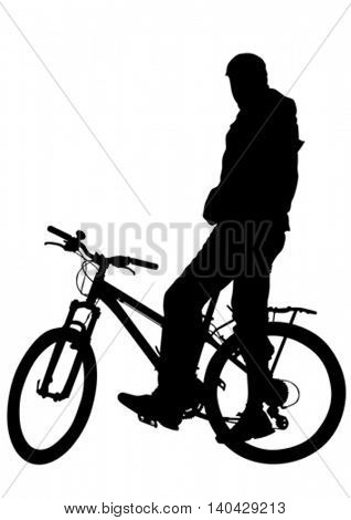 Sport bike on white background