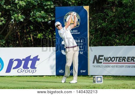 CHONBURI - DECEMBER 13 : Nicolas Colsaerts of Belgium player in Thailand Golf Championship 2015 at Amata Spring Country Club on December 13 2015 in Chonburi Thailand.