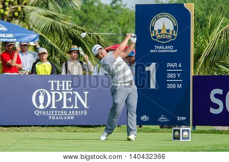 CHONBURI - DECEMBER 13 : Panuphol Pittayarat of Thailand player in Thailand Golf Championship 2015 at Amata Spring Country Club on December 13 2015 in Chonburi Thailand.