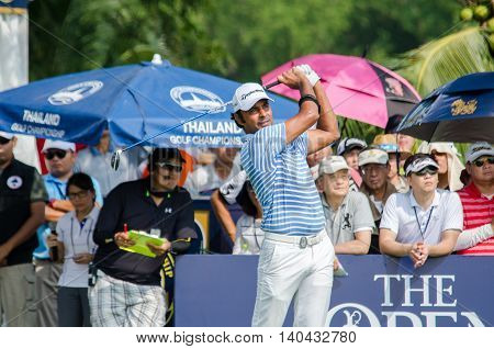 CHONBURI - DECEMBER 13 : Jyoti Randhawa of India player in Thailand Golf Championship 2015 at Amata Spring Country Club on December 13 2015 in Chonburi Thailand.