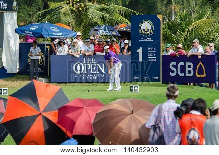 CHONBURI - DECEMBER 13 : Jbe Kruger of South Africa player in Thailand Golf Championship 2015 at Amata Spring Country Club on December 13 2015 in Chonburi Thailand.