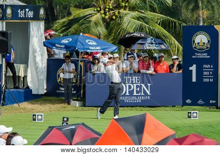 CHONBURI - DECEMBER 13 : Matthew Fitzpatrick of England player in Thailand Golf Championship 2015 at Amata Spring Country Club on December 13 2015 in Chonburi Thailand.