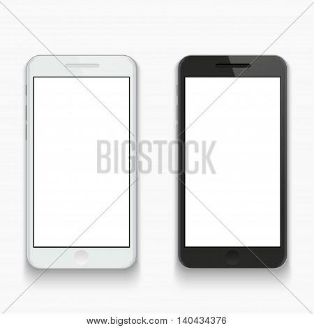 Vector modern smartphone on white background. Eps10