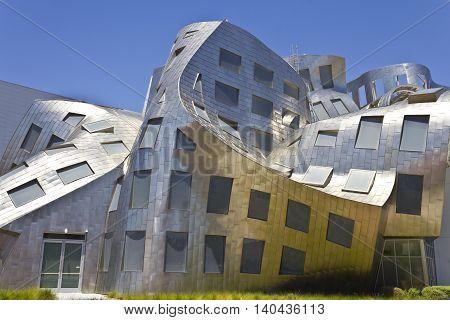 Las Vegas - Circa July 2016: The Cleveland Clinic Lou Ruvo Center for Brain Health. Designed by the architect Frank Gehry the clinic opened in 2010 II