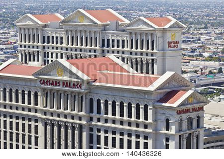Las Vegas - Circa July 2016: Caesars Palace is a Luxury Hotel and Casino Owned by Caesars Entertainment and One of the Most Iconic Fixtures on the Strip II