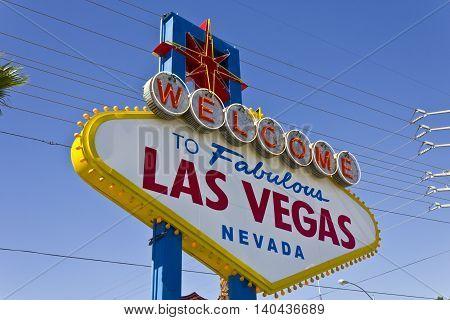 Las Vegas - Circa July 2016: Welcome to Fabulous Las Vegas sign on the Las Vegas Strip IV