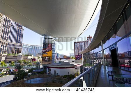 Las Vegas - Circa July 2016: View of the Strip from the Fashion Show Mall I