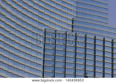 Las Vegas - Circa July 2016: Windows and Facade of the Aria Resort and Casino. The Aria is Owned by MGM Resorts International II