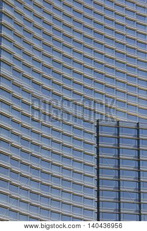 Las Vegas - Circa July 2016: Windows and Facade of the Aria Resort and Casino. The Aria is Owned by MGM Resorts International I