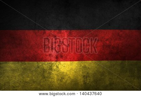 German flag. Grunge texture effect