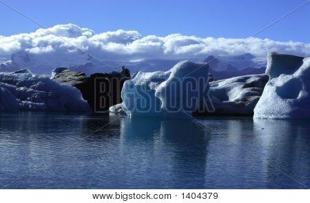 Sonnendurchflutetes Eisberge