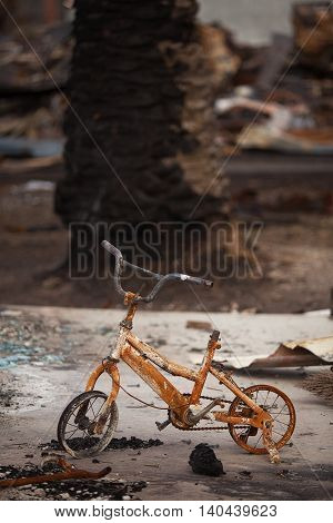 Fire Damaged Bicycle