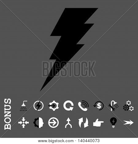 Execute vector bicolor icon. Image style is a flat iconic symbol, black and white colors, gray background.