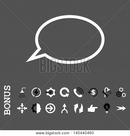 Hint Cloud vector bicolor icon. Image style is a flat pictogram symbol, black and white colors, gray background.