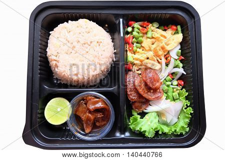 Rice Seasoned with Shrimp Paste in thailand