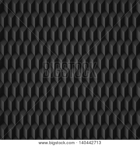 Abstract geometric background with rhombs in black