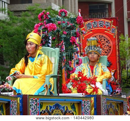 Young People Dreesed In Traditional Chinese Robes
