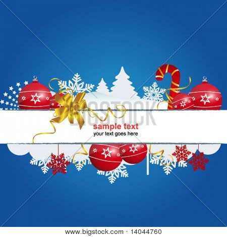 blue holiday christmas sign