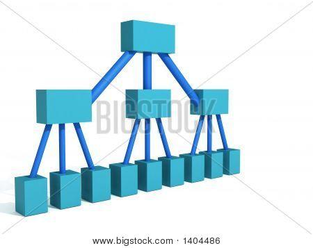 Blue Org Chart