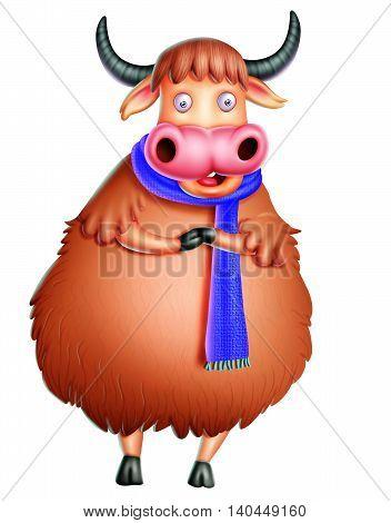yak/ yak with muffler/ yak holding hands